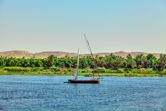 boat on the Nile River