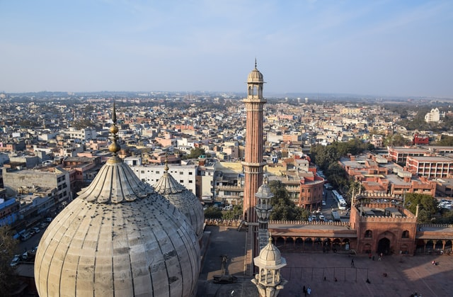 View of old Delhi from Jama masjid mosque